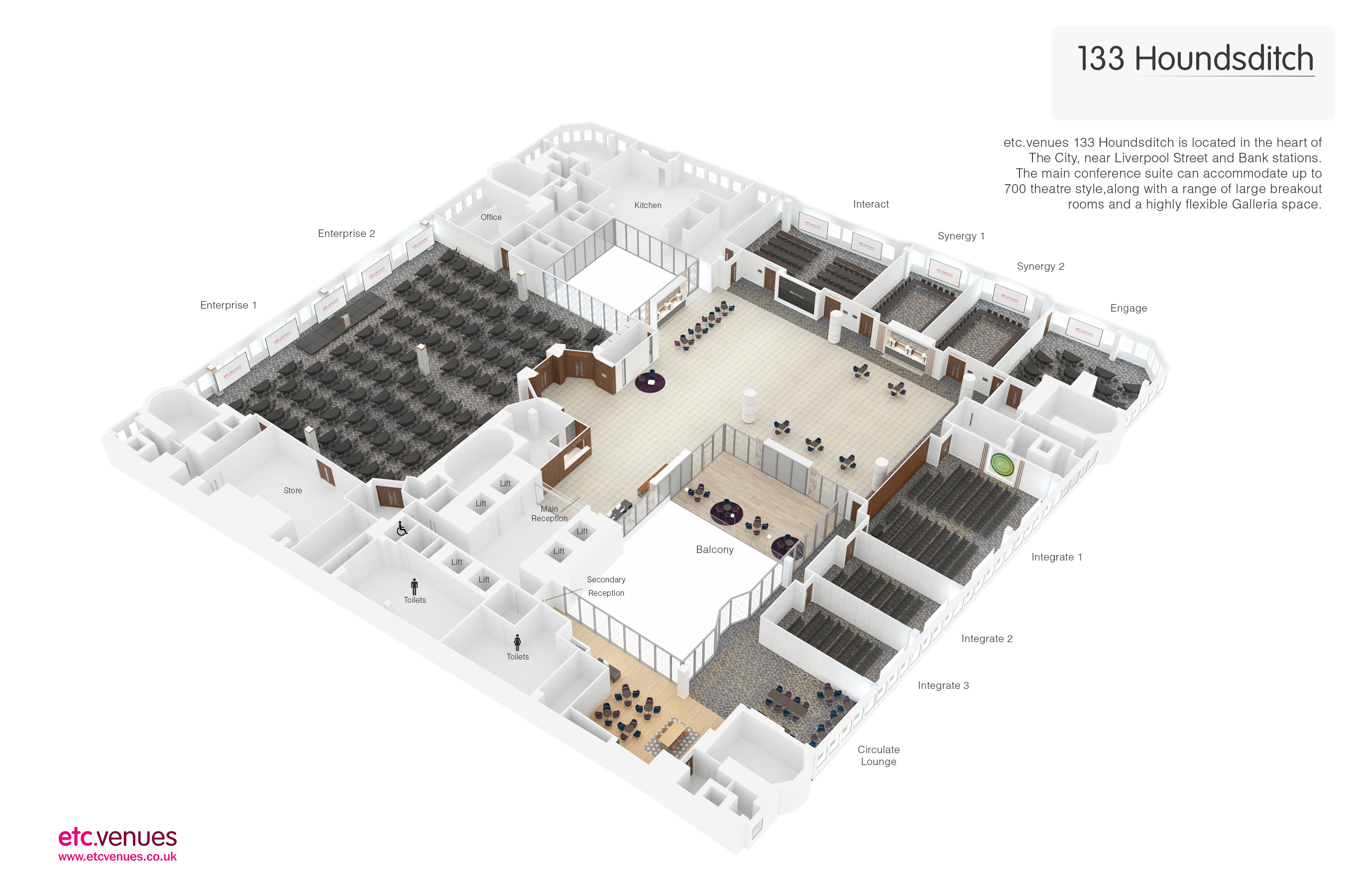 etc venues 133 Houndsditch floorplan